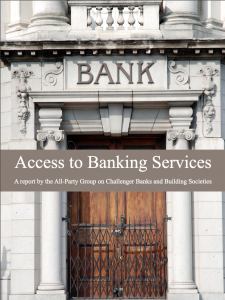 Access to banking services
