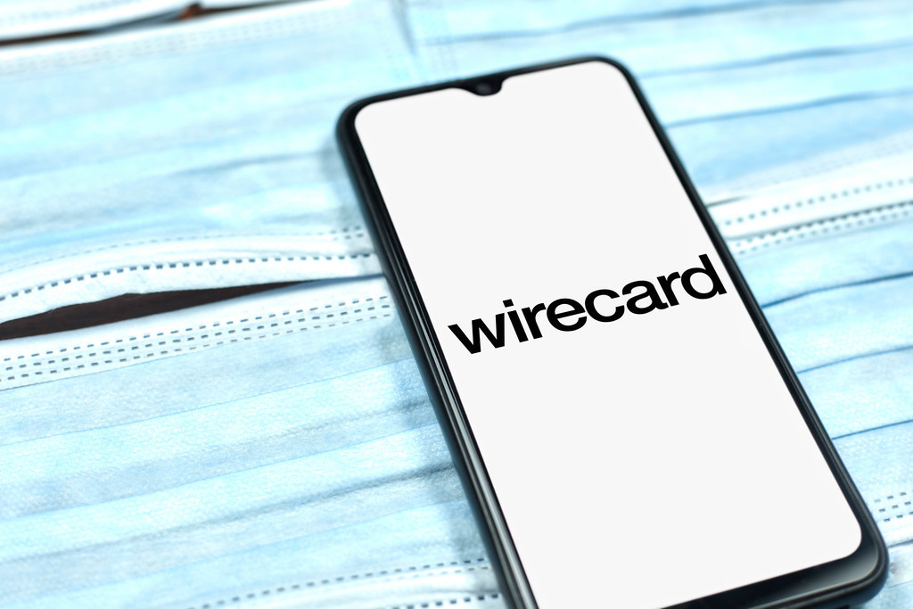 Wirecard logo on smartphone